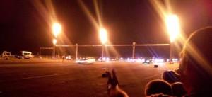 noční sprinty, zrovna jeden ulitý start :)